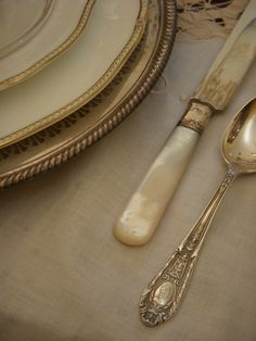 really like the pattern on the spoon mixed with the mother of pearl knife