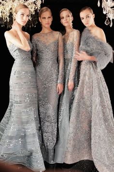 Collection of Silver gray gowns