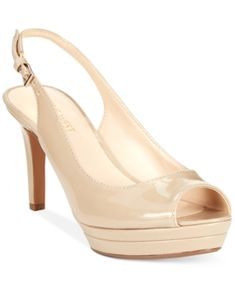 ecd0988a0bf5 Nine West Able Mid-Heel Platform Pumps - Women s Shoes Beige Heels