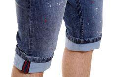Semicollon Lightweight Blue Denim Shorts  visit semicollon.com for more collection