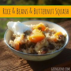 Rice, Beans, and Butternut Squash is a great, spicy, Mexican side dish, vegetarian main dish, or filling to a burrito or wrap. So easy, so nutritious, and so, so delicious.