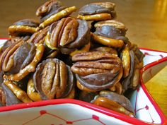 Poor Man's Turtles- 3 ingredients, our most favorite holiday candy EVER.