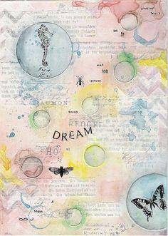 dream - art  journal page