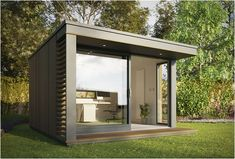 Award-winning modern garden office pods, ecological studios & contemporary ecopods for gardens, commercial & public sectors. Outdoor Office, Backyard Office, Backyard Studio, Backyard Garden Design, Outdoor Living, Backyard Cottage, Modern Backyard, Garden Landscaping, Shed Office