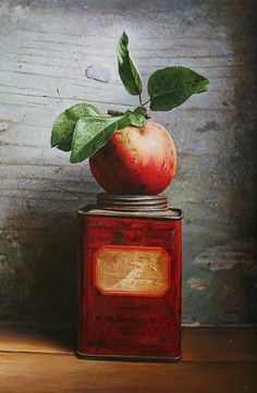 Apple on Tin by John Whalley