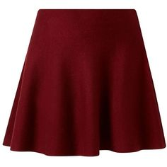 Burgundy Knitted Skater Skirt ($17) ❤ liked on Polyvore featuring skirts, mini skirts, bottoms, saias, faldas, burgundy, red flared skirt, red circle skirt, flared skirt and mini flare skirt