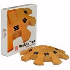 Mexican Train Dominoes Wooden Hub Centerpiece