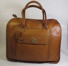 COACH Vintage British Tan/Tan Leather Musette by VintageCloset21