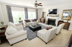 charcoal family room makeover