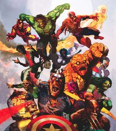 Superheroes vs Zombies -- who would ultimately survive?