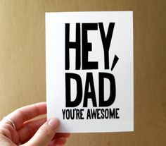 father's day card  hey dad you're awesome  card / by letterhappy, $3.00