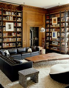 Love the pictures right on the bookcases.   douglas friedman photography - could spend all day here #thingsmatter