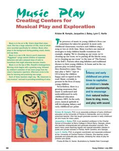 Music Play: Creating Centers for Musical Play and Exploration (NAEYC)