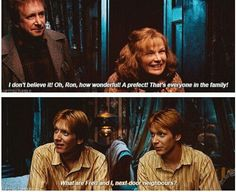 Fred and George Weasley, Kings of Sass.