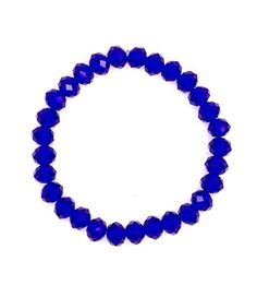 Navy Blue Crystal Bead Flex Stretch Bracelet
