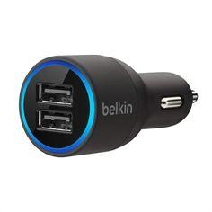 ¡Chollo! Cargador para coche Belkin dual (10 vatios/2,1 amperios por puerto) por 8.99 euros. 64% de descuento.