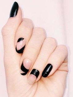 Squoval + Asymmetrical + Black