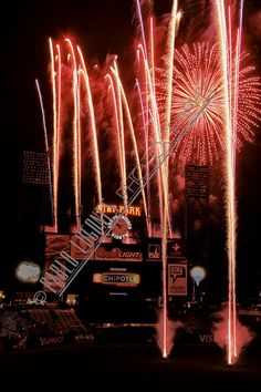 San Francisco Giants Fireworks at AT&T Park by Pablo Lugones Photography