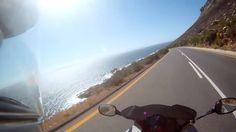 Riding 2up along Western Cape coast line on BMW F800ST