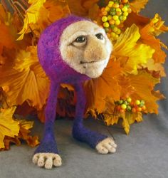 OOaK Needlefelted Autumnthing Soft Sculpture Fairy by oddfae, $60.00