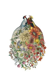 Love is in the air! This vintage mix of birds and botanicals celebrates new life in love and in spring, making it the perfect wedding gift. Nab Lovebirds by Amy Ross today!