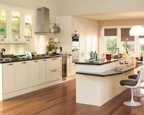 Tewkesbury White Kitchen Range | Kitchen Families | Howdens Joinery - like the island!
