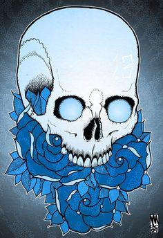 ☆ Turn Blue On Me.。Skull Art By :→: Monkeydeathcult ☆