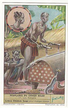 Bangala-Mongala-PEUPLE-People-Belgian-CONGO-BELGE-AFRICA-AFRIQUE-CHROMO