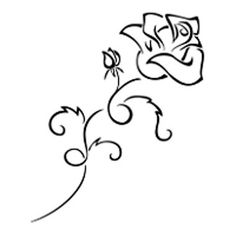 Rose in flowers tattoo
