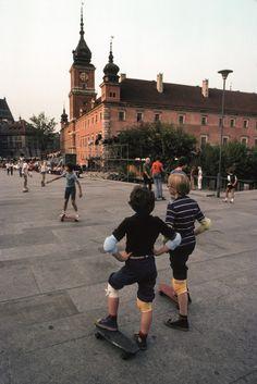 Warsaw, Plac Zamkowy, skateboard (1979)