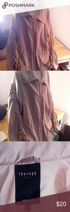 Lightweight fal/spring jacket lined 2x plus Light tan jacket, lightweight, good for fall/spring, excellent condition, hardly worn Therapy by Lane Crawford Jackets & Coats Utility Jackets