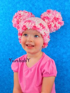 Valentines Day Hat Pom Pom Hats  All sizes Newborn to by YumbabY #valentinesday #giftsforher #hat