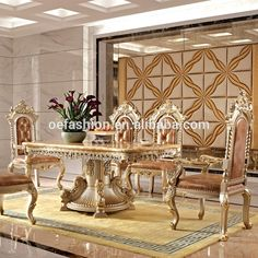 OE FASHION Luxury Marble Dining Table Set Used Home Room Furniture For Sale