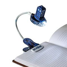 If you're reading in bed and don't want to disturb your partner or pet, just clip the TARDIS to your book and aim her light exactly where you need it. The TARDIS Book Light also comes with a UV pen so you can write secret notes to The Doctor. The Tardis, Doctor Who Tardis, Doctor Who Gifts, All Doctor Who, Eleventh Doctor, Doctor Who Merchandise, Secret Notes, Book Lovers Gifts, Dr Who