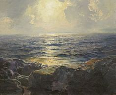 File:'Moonrise' by Frederick Judd Waugh, oil on canvas, El Paso Museum of Art.JPG