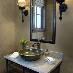Bathroom sink, raised bowl, simplicity