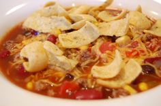 Taco soup - makes enough for a crowd or to put some in the freezer