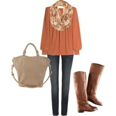 fall fashion: a peachy orange color is so relaxing and cozy to me