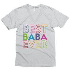 af60cc1caa7 Best Baba Ever short sleeve v-neck