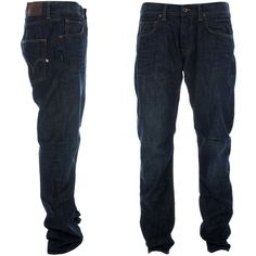 Edwin ED-55 Relaxed Tapered Fit Blue Deck Denim Jeans ❤ liked on Polyvore