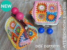 Crochet pattern PURSE 'petite square' by ATERGcrochet