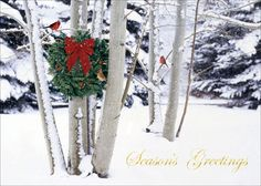 Birchcraft Studios 2266 Cardinals at Play - Recycled UnLined Envelope with White Lining - Red Ink - Pack of 25 Frozen Christmas, Christmas Bows, Christmas And New Year, All Things Christmas, Winter Christmas, Christmas Tree Ornaments, Christmas Decorations, Holiday Decorating, Decorating Ideas