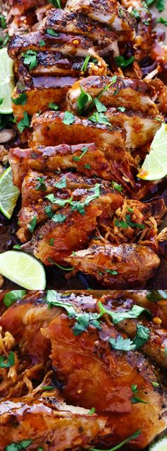 This Slow Cooker Honey Lime Ginger Pork from The Recipe Critic is cooked low and…