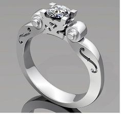 Tell Bart this is a perfect wedding/anniversary band to go with my wedding ring.(minus having another diamond. The scrolls touching would be PERFECT!
