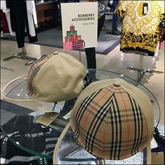 Burberry Accessories Assortment Now From $290 Visual Merchandising, Drawstring Backpack, Burberry, Backpacks, Sign, Classic, Table, Pattern, Accessories