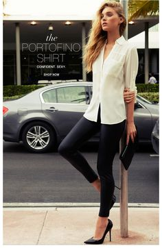 Express - The Portofino Shirt: I bought these in several colors, love them!