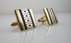 Vintage Cufflinks Mid Century Modern Cuff by LadyandLibrarian, $60.00  #vintage #cufflinks #ladyandlibrarian
