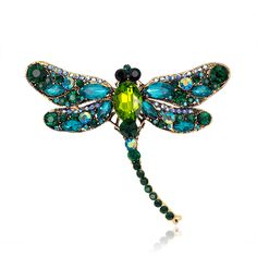 Broches Jóias Da Moda Strass Dragonfly Broche Pin Decorativa Acessórios de Vestuário Broche Animal Relogio feminino