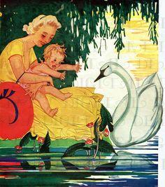 Baby wants swan