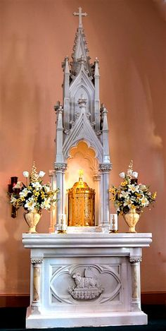 Tabernacle at St. John the Evangelist Roman Catholic Church in Portage, PA.